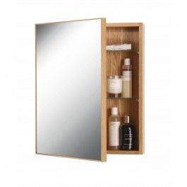 The Slmline Cabinet is designed in the UK by Lincoln Rivers exclusively for Wireworks, an independent homewares company that started life nearly three decades ago in a small workshop off London's Edgware Road. Pairing sustainable oak with a sheet of reflective glass, this simple cabinet provide both a vanity mirror and concealed storage.