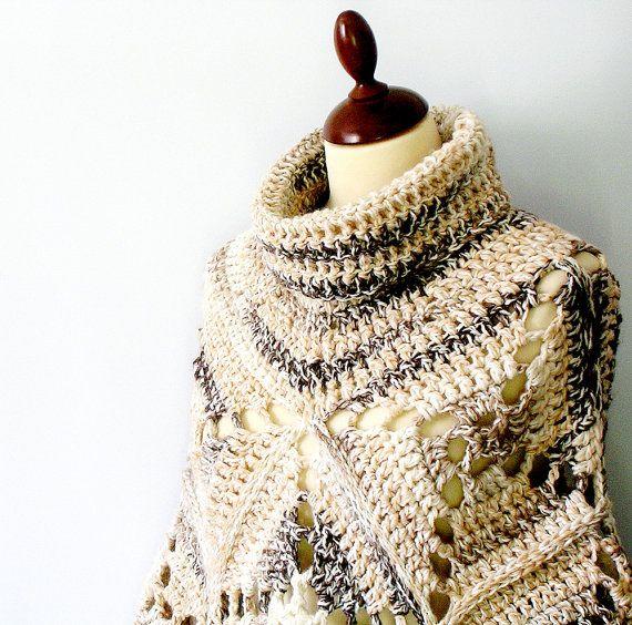 crochet poncho shawl | Crochê & Tricô | Pinterest | Ponchos, Chal y ...