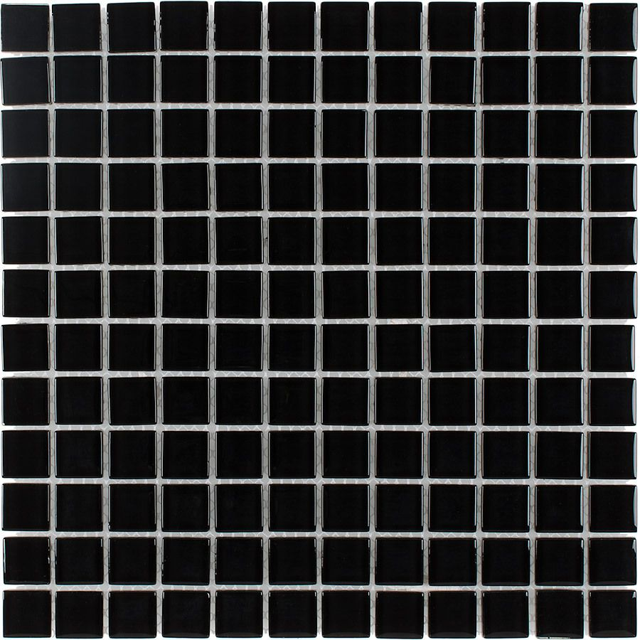 Elida Ceramica Nero Gl Mosaic Square Indoor Outdoor Wall Tile Common 12