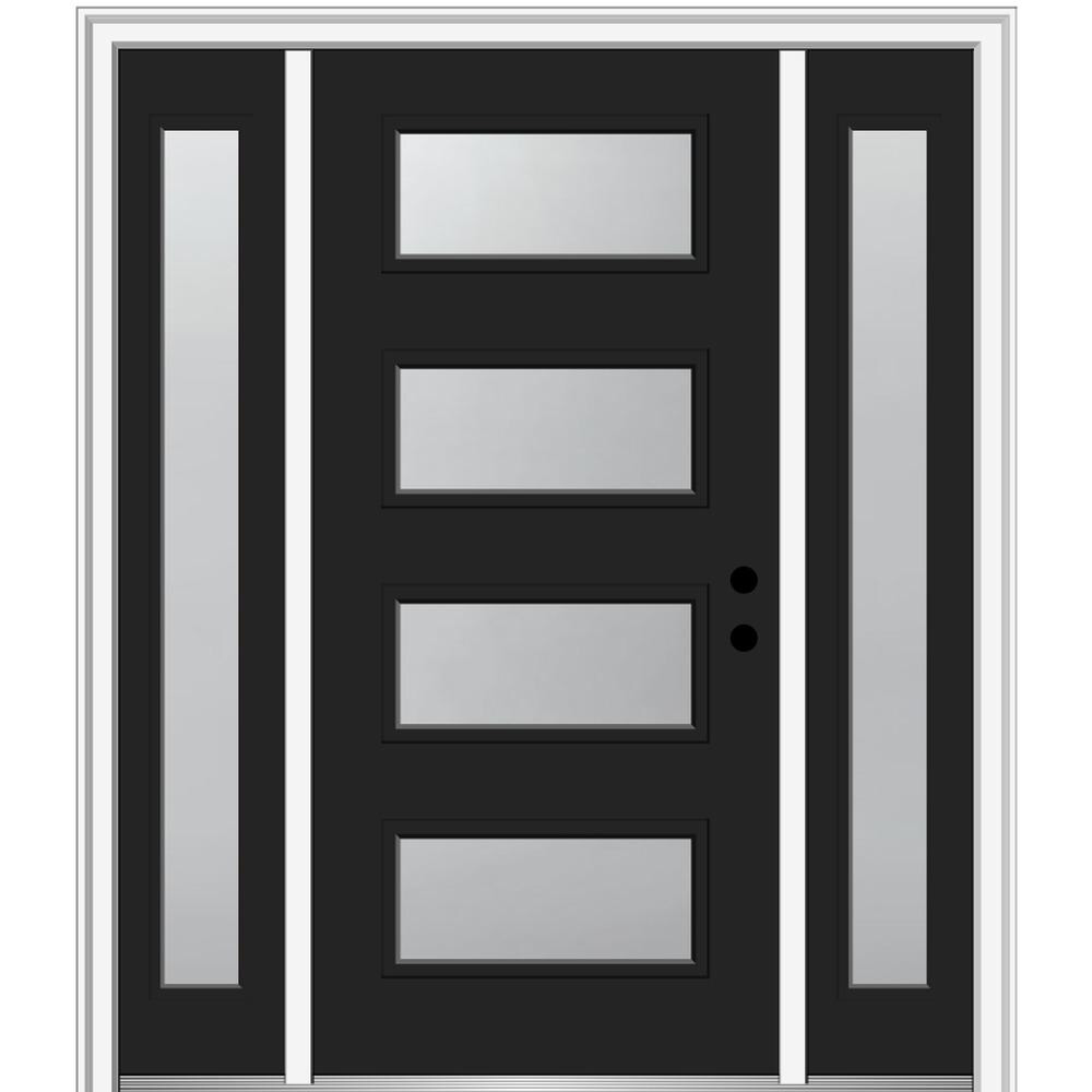 I Don T Like The Black And White Just The Black And Glass I Like This Horizontal Design A Bit More But Don T Want In 2020 Steel Front Door Mmi Door Modern