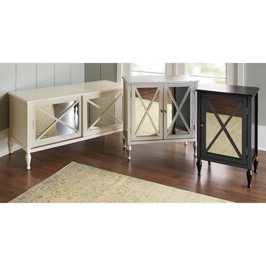 Hollywood Mirrored 48 Quot Tv Stand Target Tv Stand And Side Tables Target Mirror Tv Stand Accent Doors Mirror Tv