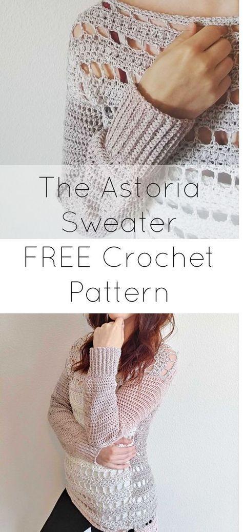 The Astoria Sweater Crafty Shit Pinterest Crochet Crochet
