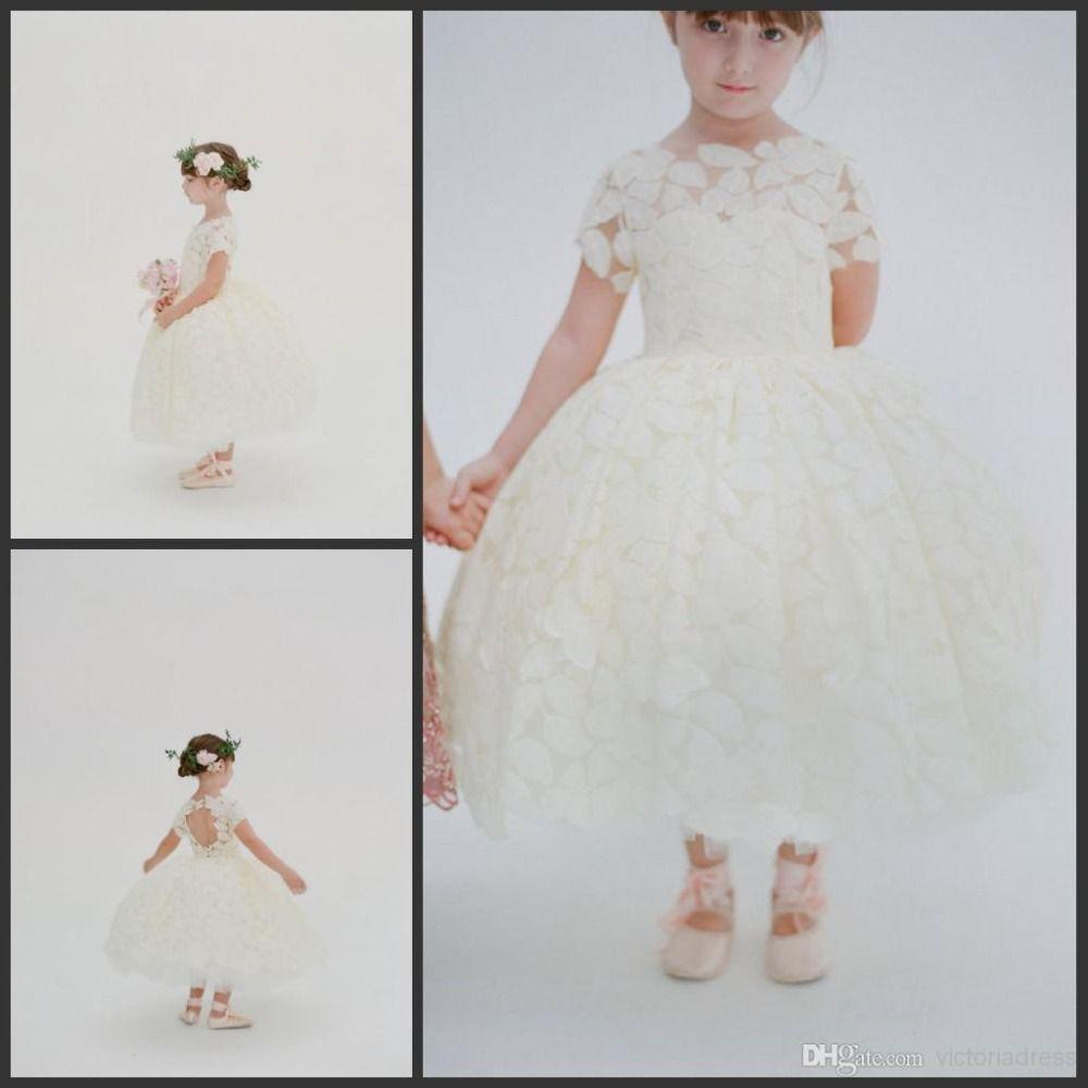 Find more flower girl dresses information about ivory short sleeve