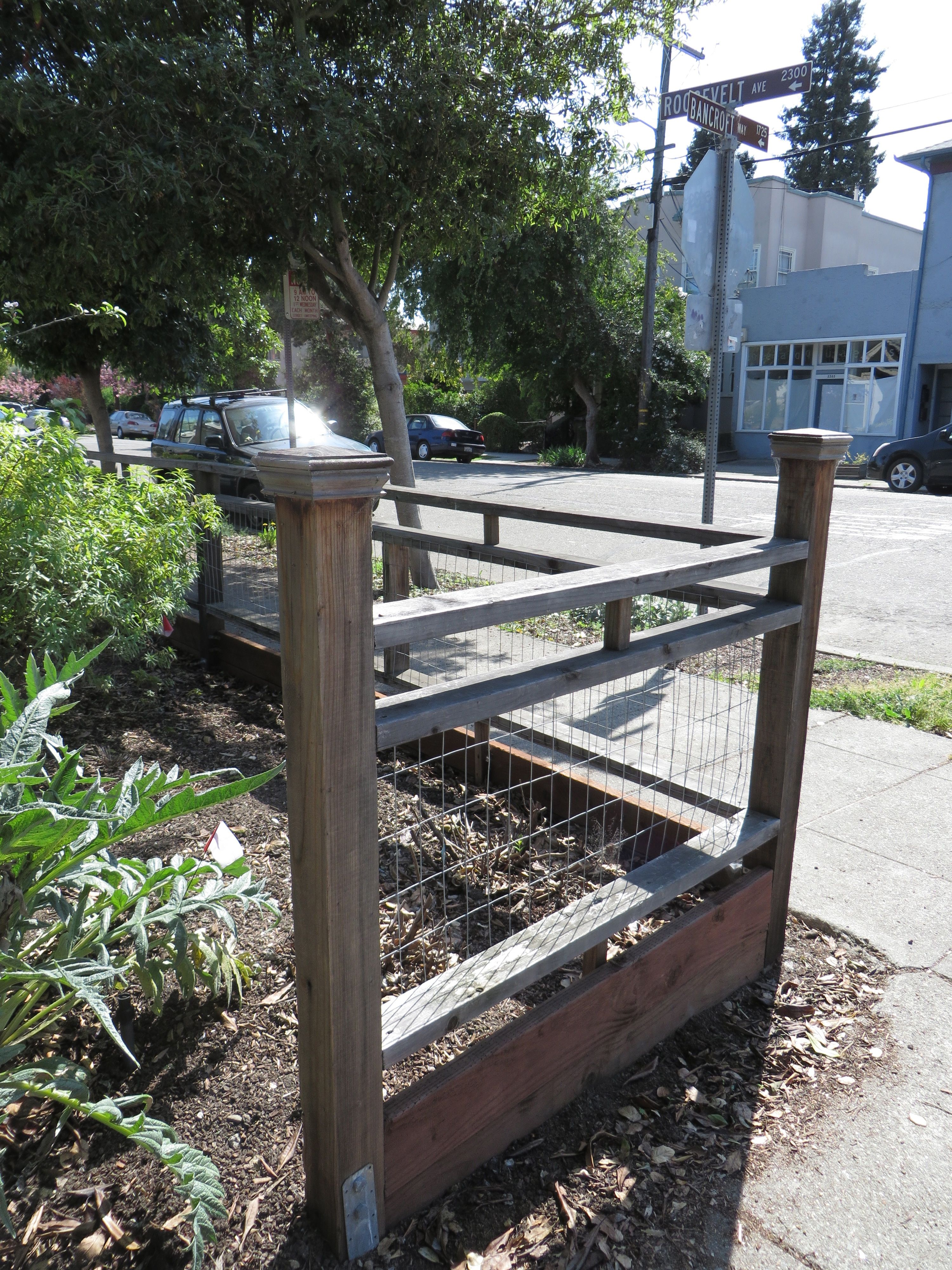 Smaller fence with only a couple of craftsman style posts and wire ...
