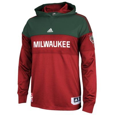 adidas Red Pre-Game Hooded Long Sleeve Shooter