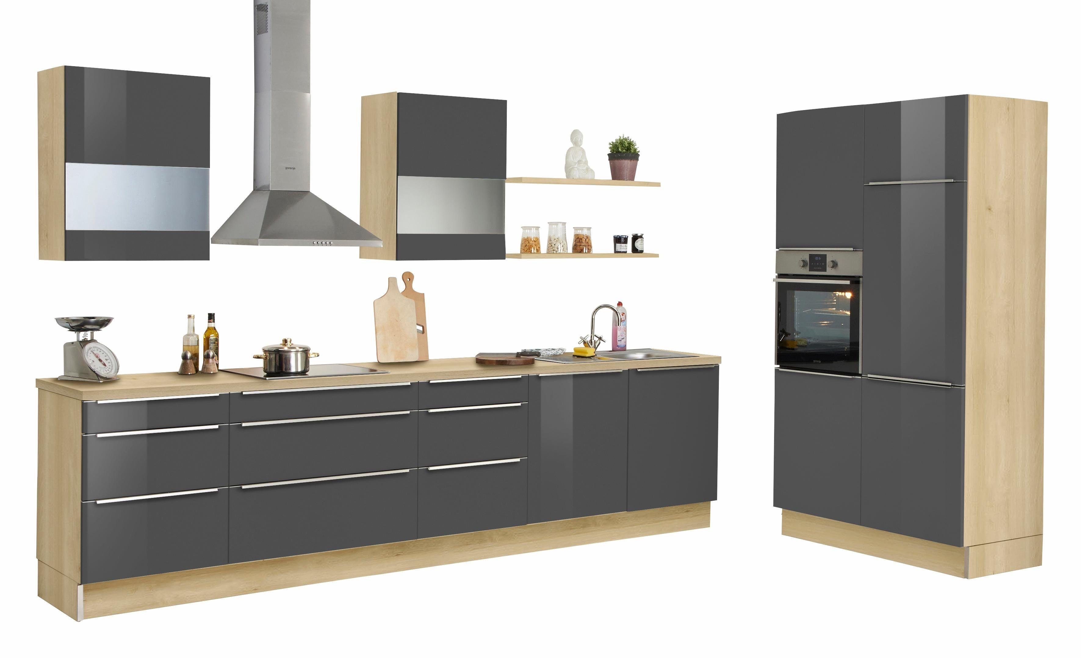 set one by Musterring Küchenzeile ohne E-Geräte »Siena« grau, Soft ...