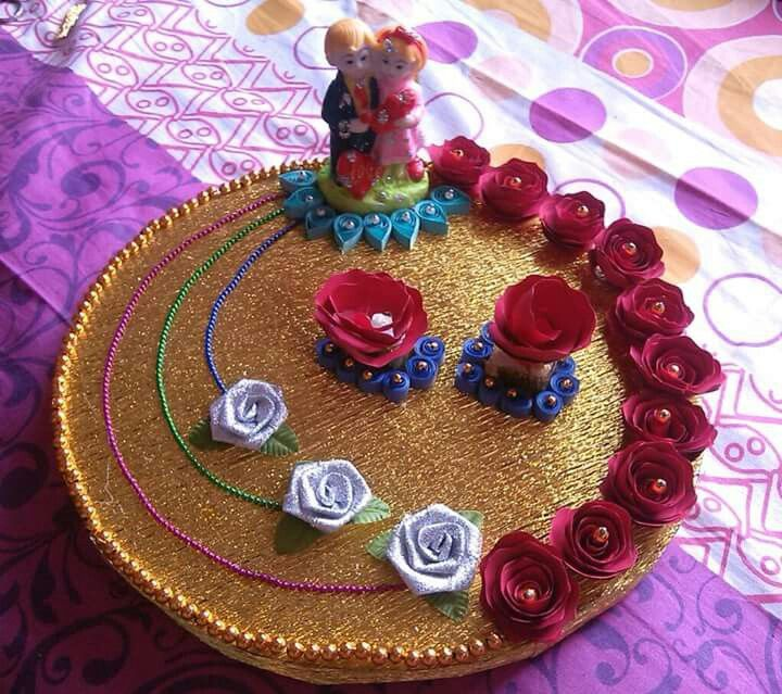 Indian Wedding Tray Decoration: Indian Engagement Ring