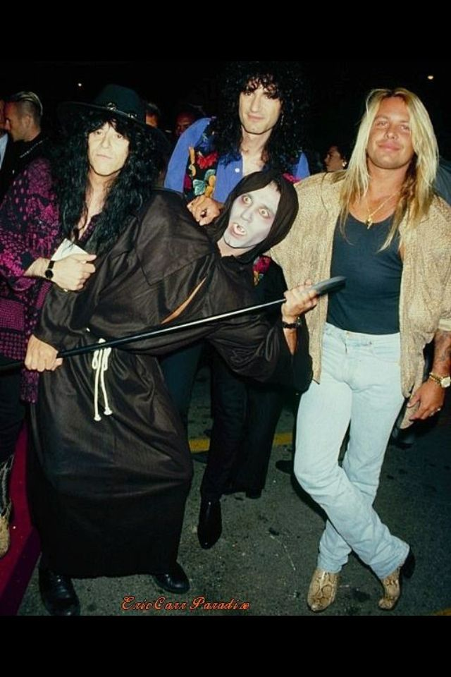 Eric Carr, Bruce Kulick, and Vince Neil