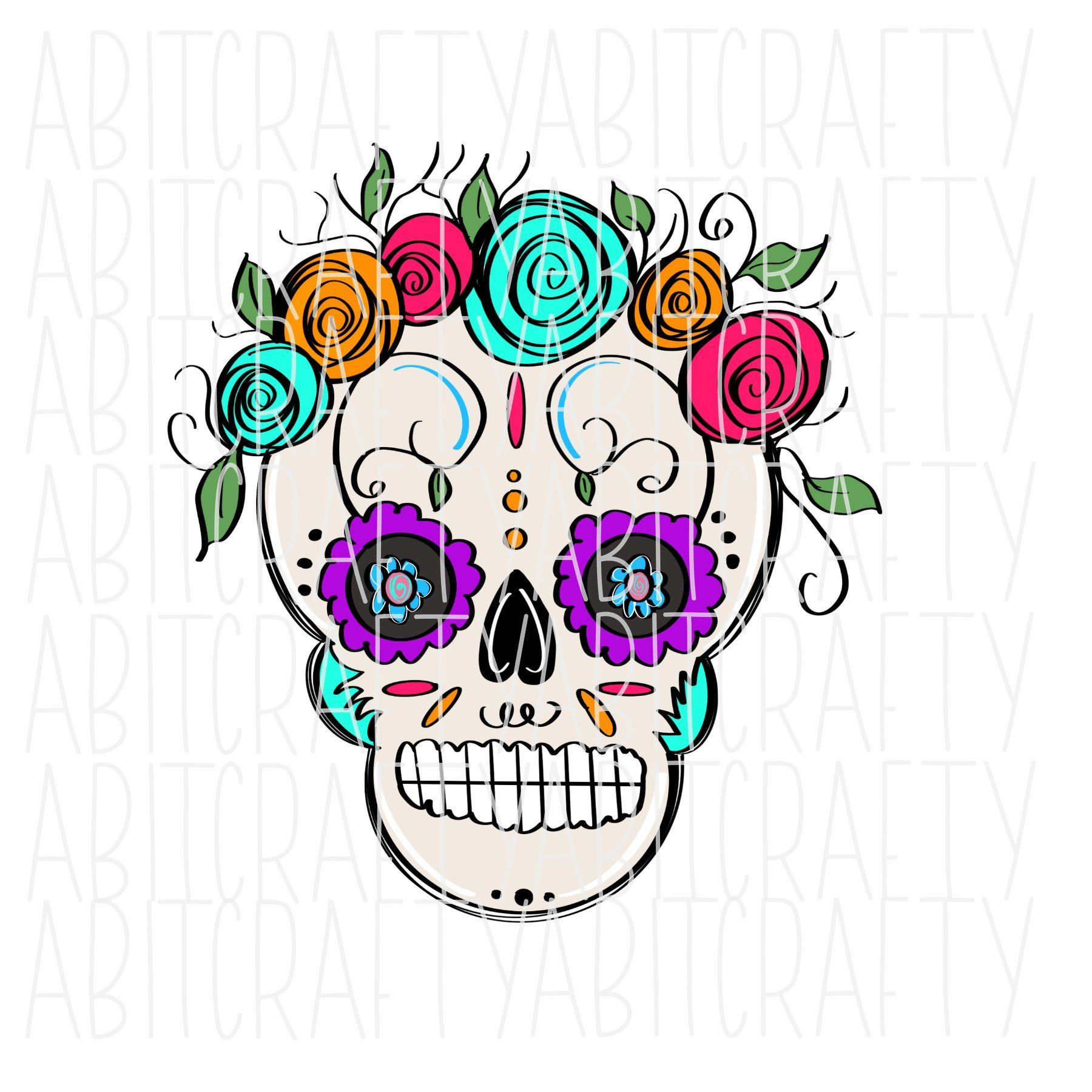 Dia De Los Muertos Day Of The Dead Png Sublimation Digital Download Hand Drawn How To Draw Hands Dia De Los Muertos Digital Download
