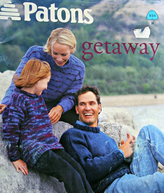 Sweater Knitting Patterns Family Getaway Patons 934 by elanknits (Craft Supplies & Tools, Patterns & Tutorials, Fiber Arts, Knitting, sweater patterns, knitting patterns, cardigan pattern, cardigan patterns, jumper pattern, sweater pattern, knitting pattern, jumper patterns, turtleneck pattern, vest pattern, pullover patterns, pullover pattern, getaway patons 934)