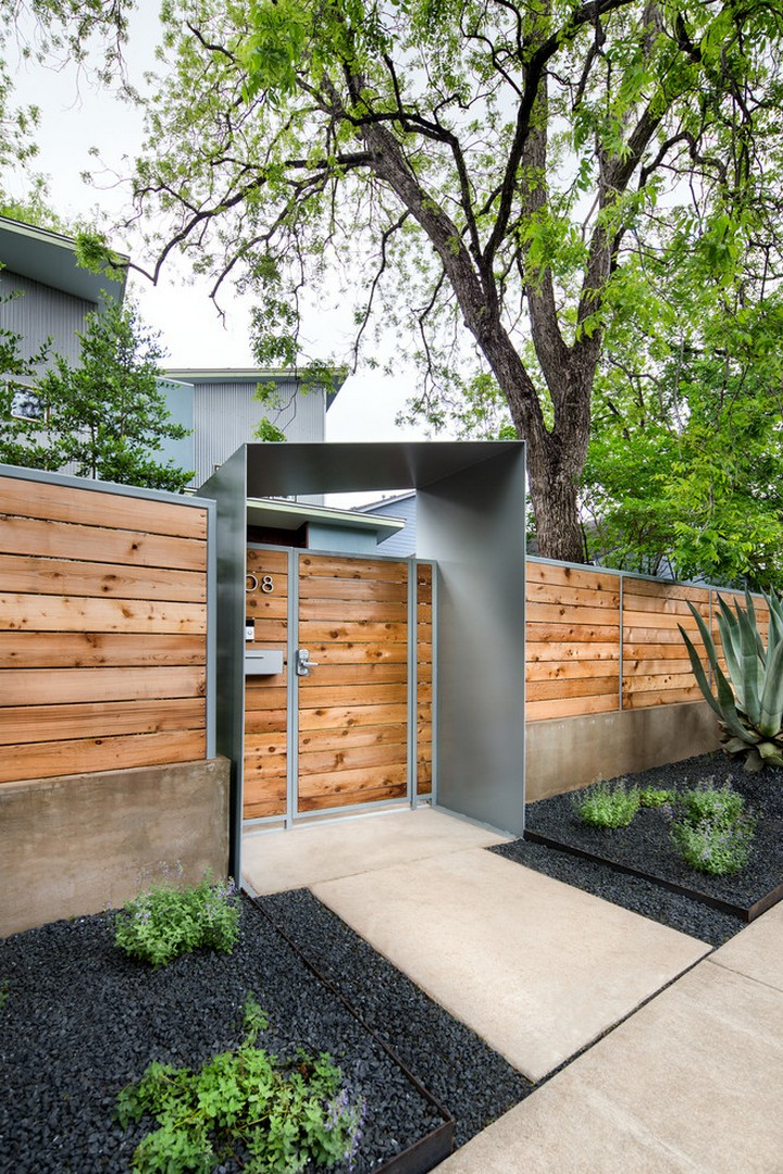 26 Modern Fence Design Ideas Highlighting Your House In A Fancy Way Modern Fence Design Fence Design Modern Fence