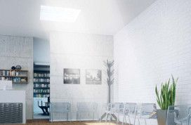 The innovative flat roof window provides an abundance of natural light in interiors under a flat roof.