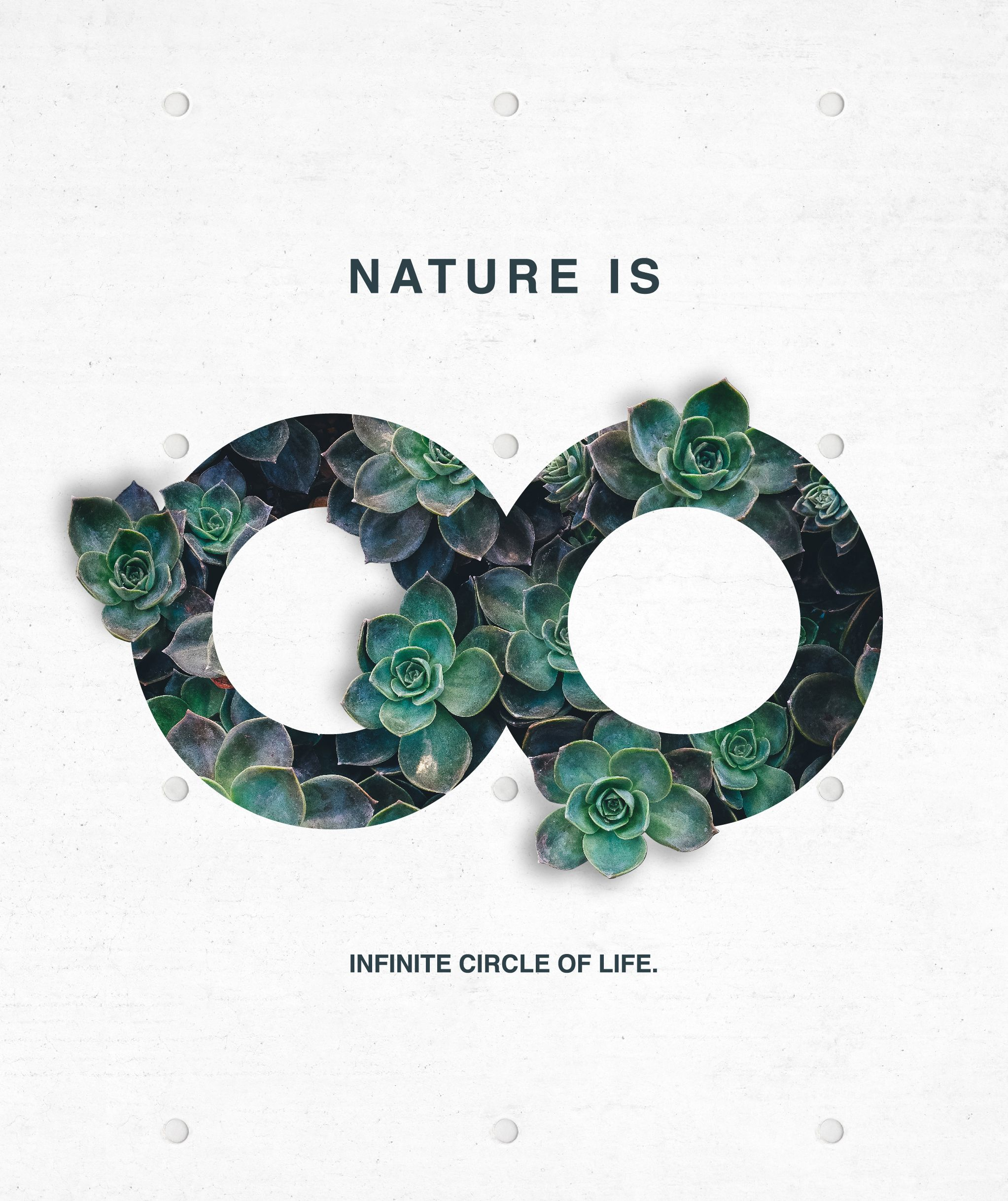 Poster design portfolio - Nature Is Infinite Circle Of Life Poster Design Graphicdesign Nature Infinity