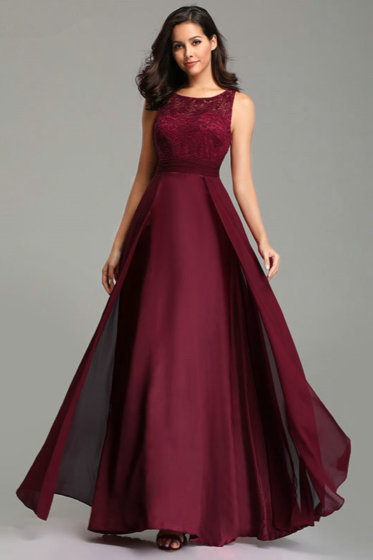 Shop this burgundy lace prom dress from our hot sale ...