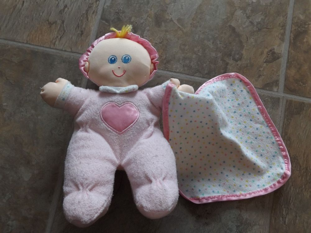 Vintage Little Tikes Plush Pink My First Baby Doll W/ Blankie Lovey ...