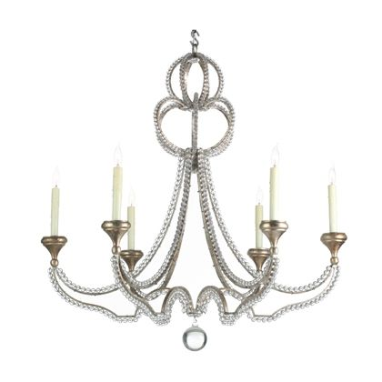 Niermann weeks danieli chandelier with oxidized silver leaf finish and glass crystals lighting