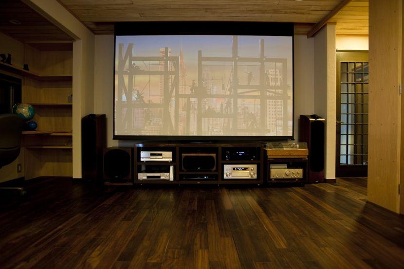 梅雨はお家で映画を楽しむ シアタールームのある家 シアタールーム