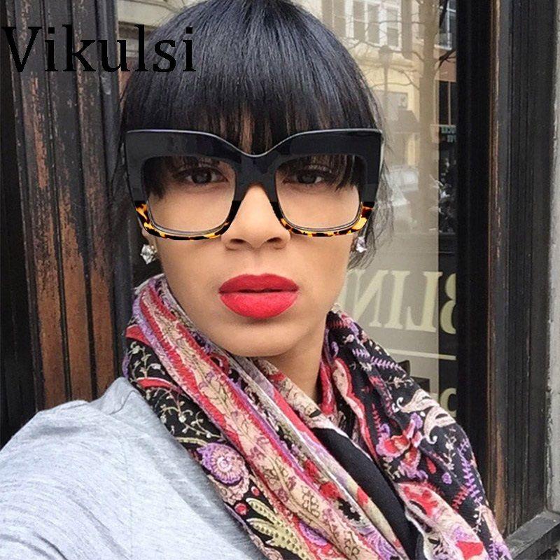 Moda Feminina Oversized Cat Eye Óculos De Sol Das Mulheres Designer de  Marca de Luxo Do ffbd910829