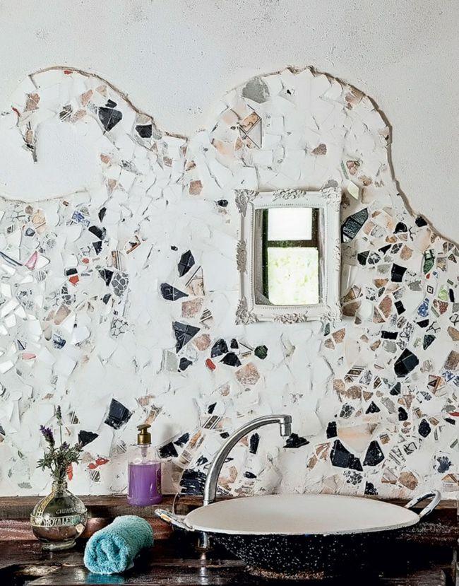architektur innendesign ideen badezimmer waschbecken - wandgestaltung im badezimmer