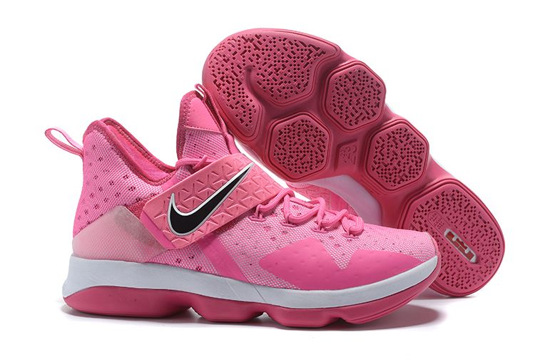 "fa50198fdeebc4 Nike LeBron 14 ""Think Pink"" Men s Basketball Shoes"