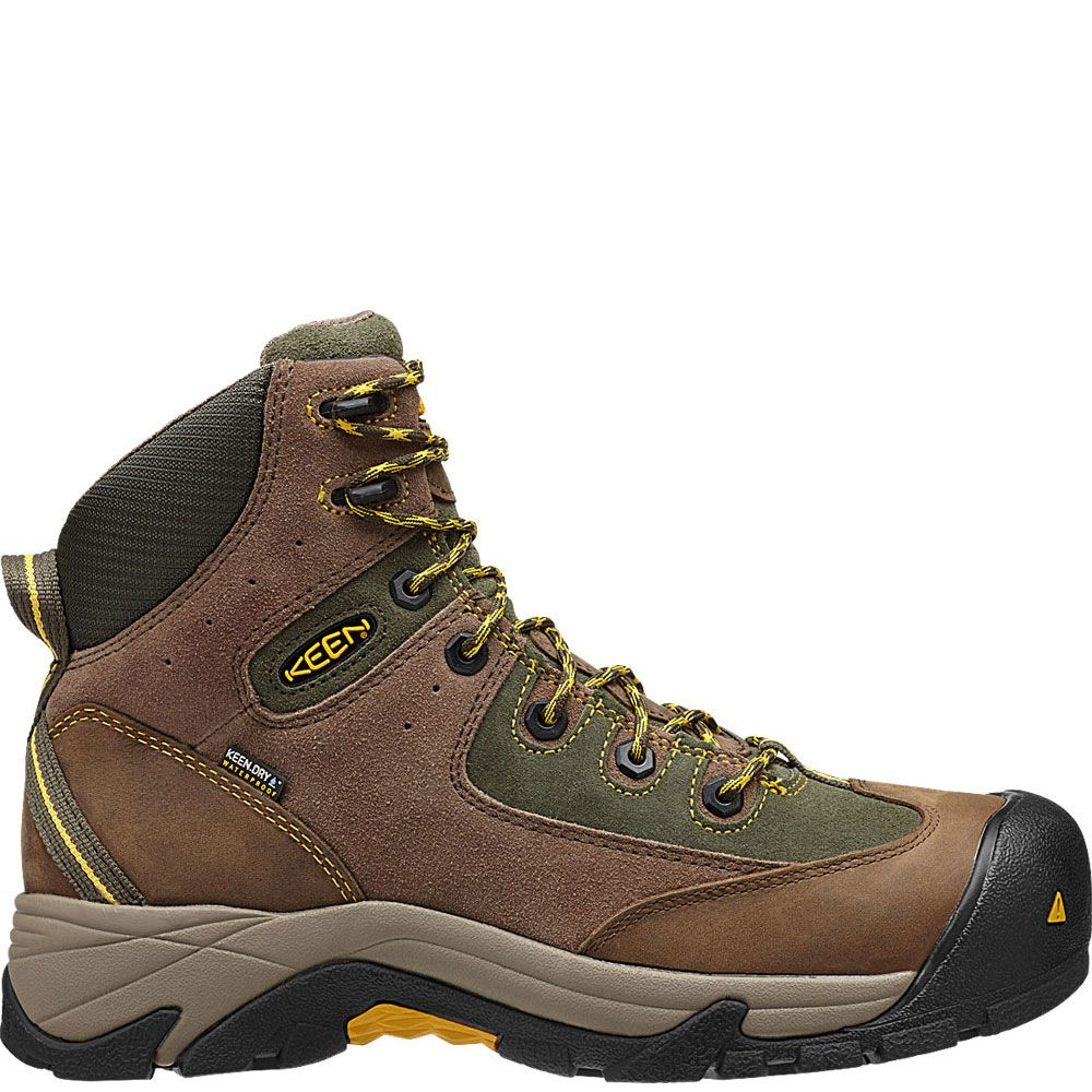1010106 keen mens rainier mid wp safety boots shitake