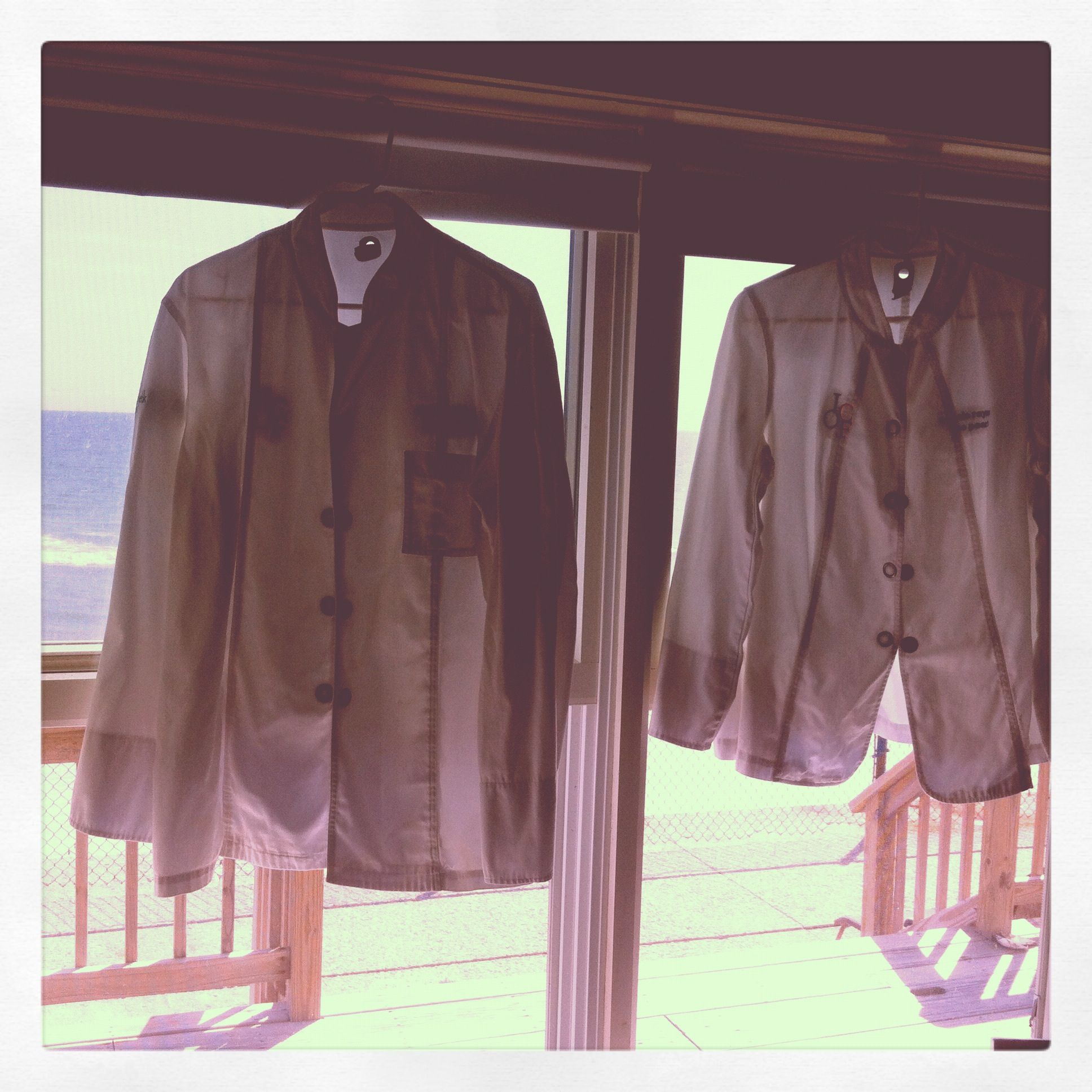Our jackets ready for Island Creek Oysters Friends of Haiti event past Sept. great time.