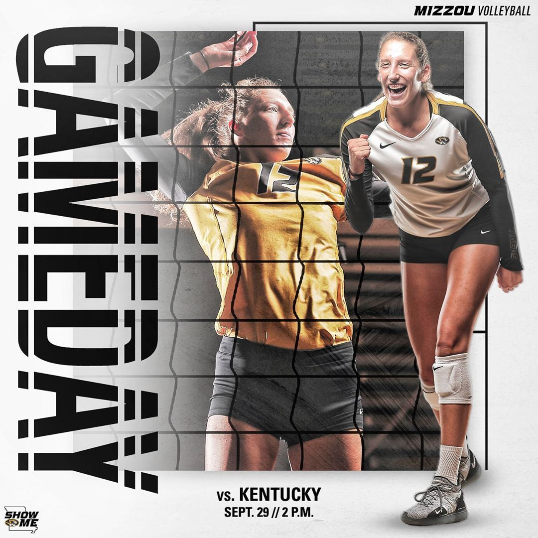 Mizzou Volleyball On Instagram The Calendar Has Turned It S Time For Sec Volleyball Espnu Miz Showme Volleyball Mizzou Sports Graphics
