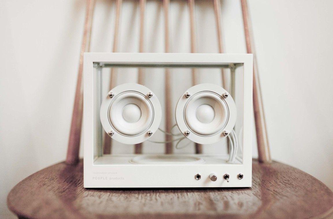 Small Transparent Speaker Is A Blend Between Transparency And Simple Scandinavian Aesthetic Speaker Projects Speaker Best Wireless Speakers
