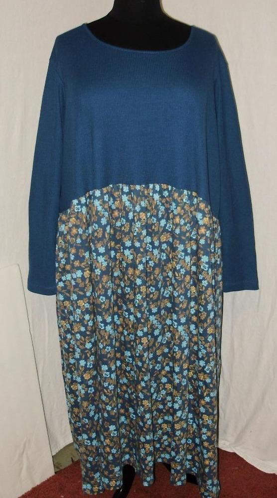 Womens Plus Size Dress 5x Only Necessities Teal Turquoise Gold