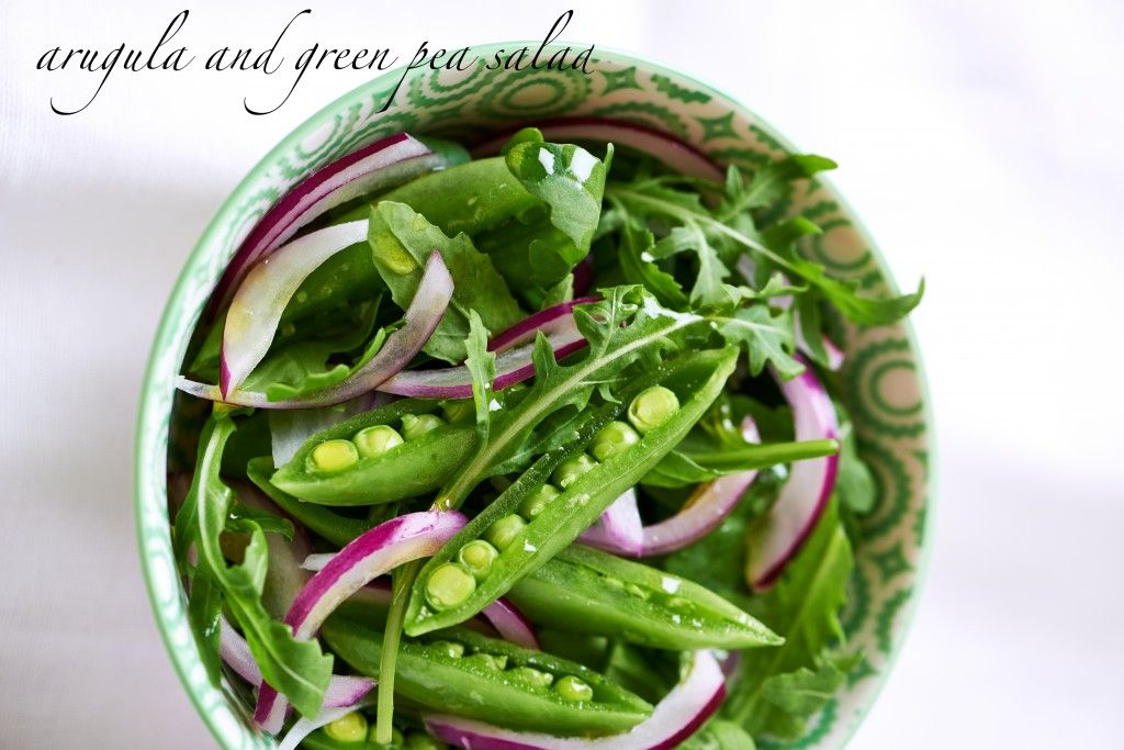 Green Salad with Sweet Pea and Arugula