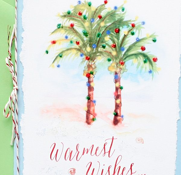 Handmade Palm Trees Christmas Card Xmas Pinterest Christmas