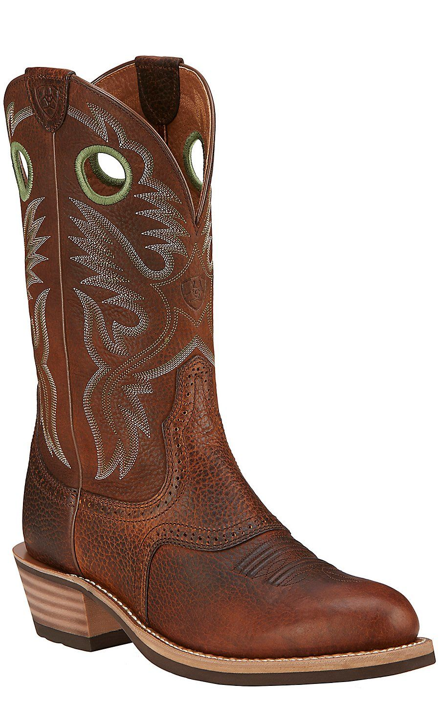 06ba8ef4f33983 Ariat Heritage Roughstock Men's Brown Oiled Rowdy Round Toe Western Boots |  Cavender's Western Boots,