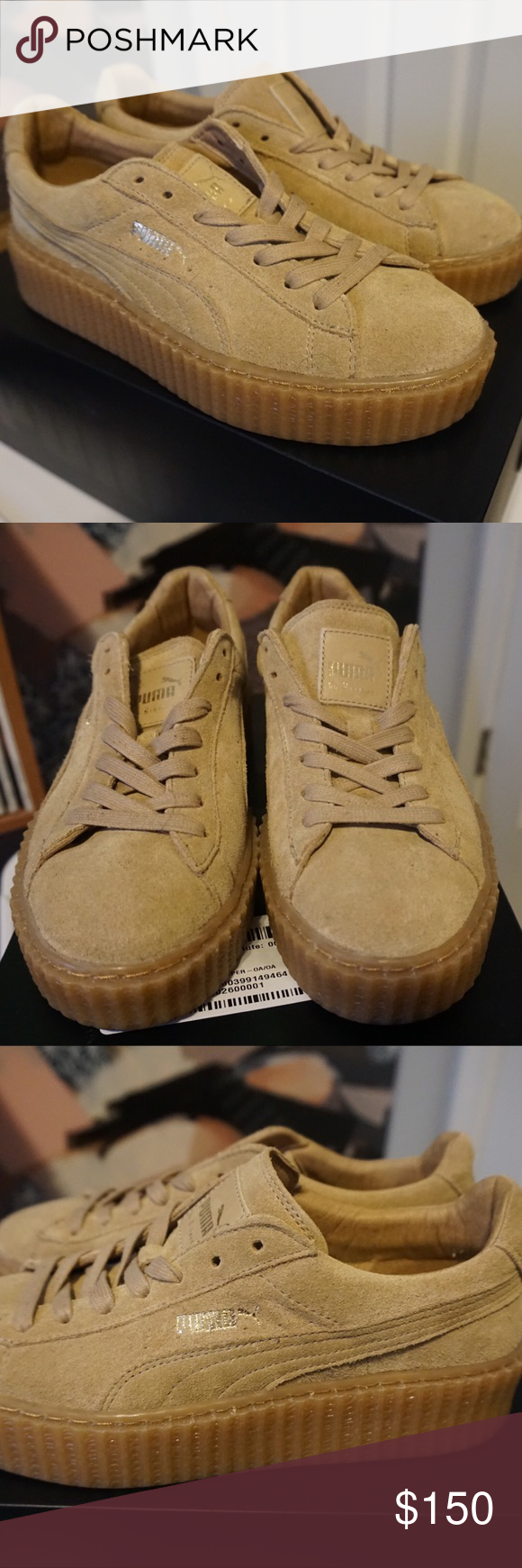 048895e7c41a Rihanna x Puma Suede Creepers Fenty Brand new in original box. Runs small  in size. Size 7.5 but fits a size 7. Puma Shoes Sneakers