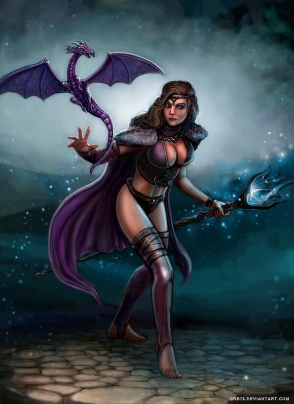 красивые картинки с драконами и ведьмами пророка перед