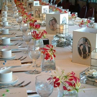 Decorating rectangular tables for parties there for Centerpiece for rectangular dining table
