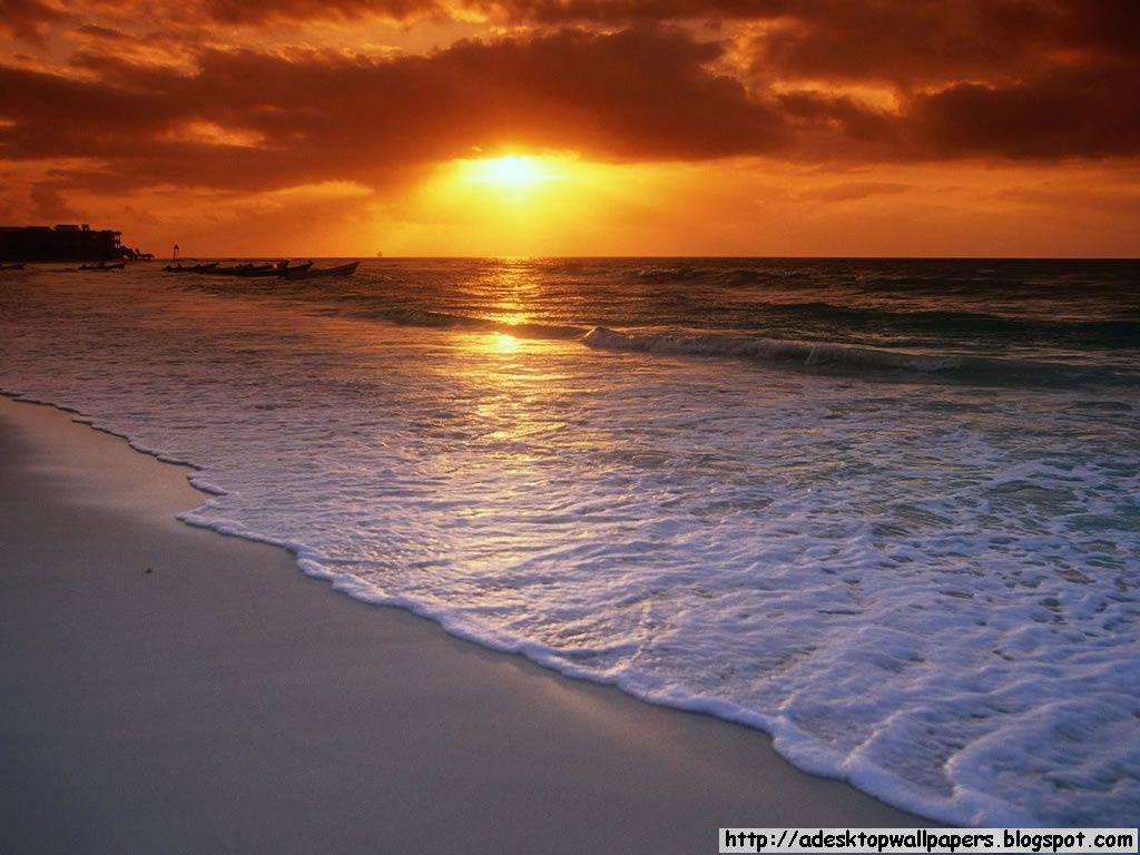 Sunset Beach Desktop Wallpapers Beautiful Beaches Amazing Sunsets Sunrise Beach