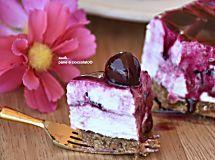 Cheesecake senza gelatina fredda ai frutti di bosco senza cottura