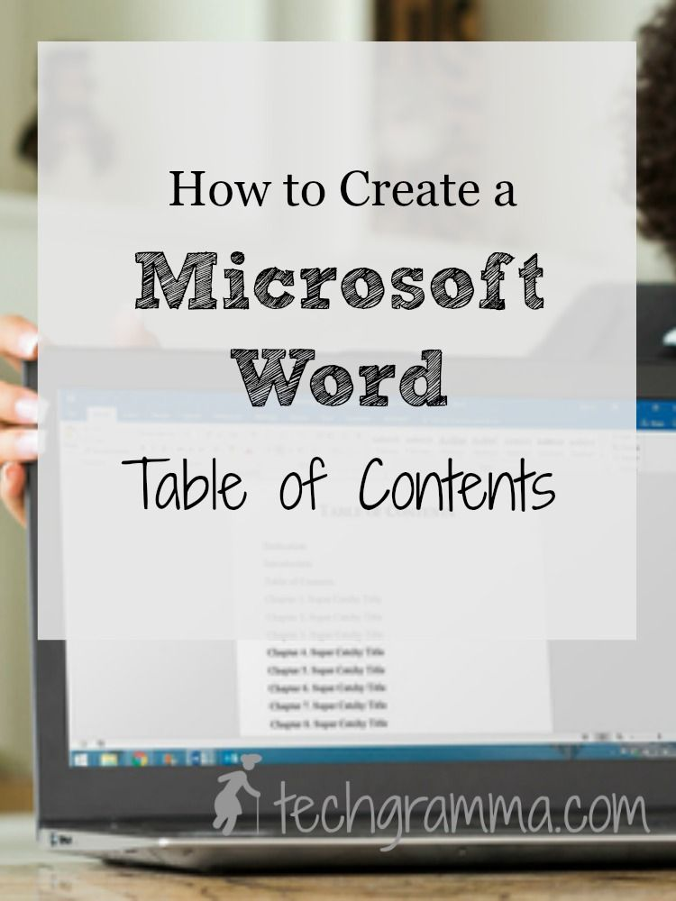 How to Create a Microsoft Word Table of Contents Microsoft word