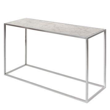 Ikea Bistrotisch konsolentisch jacob marmor edelstahl weiß silber beton