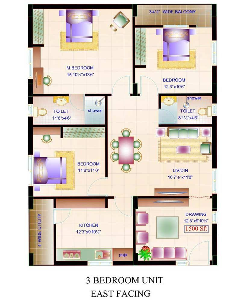 Small House Plans 1500 Square Feet Aloin Info 1080 Plan Plot 3bhk Jpg 800 1000 Indian House Plans 2bhk House Plan 20x40 House Plans