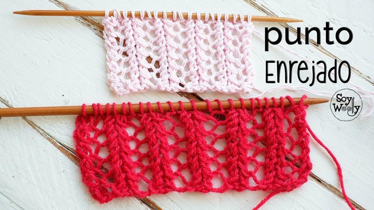 Añade a tus creaciones el punto enrejado | punto | Pinterest ...