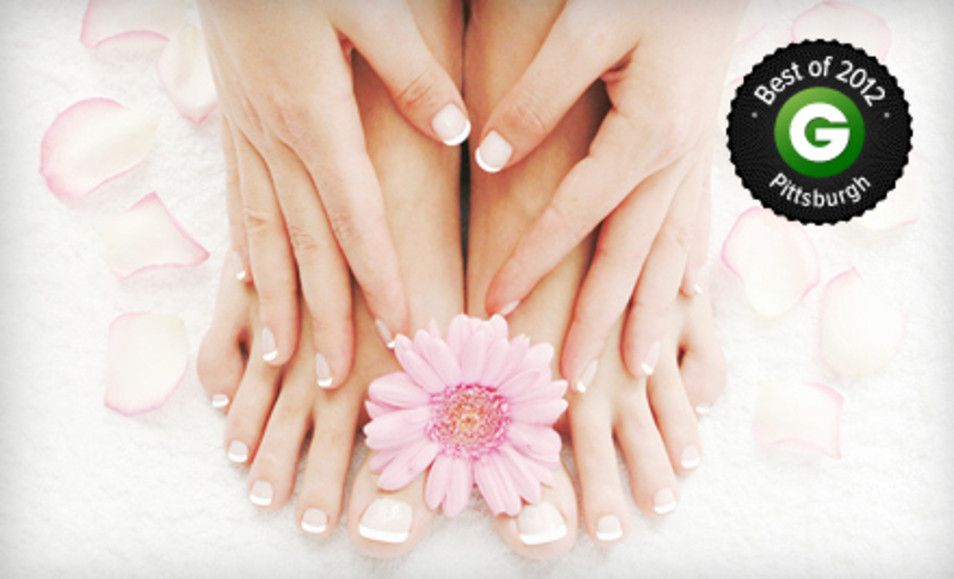 Groupon - Basic or Gel Manicure with Spa Pedicure, or Three Gel Manicures at Megan's Loft...a hair and nail studio (Up to 53% Off). Groupon deal price: $29.00