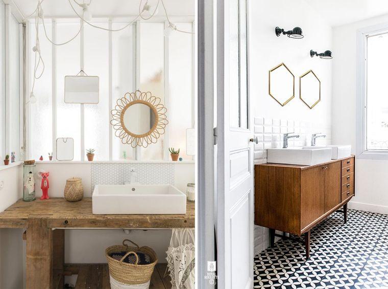 inspiration d coration salle de bain mettre des meubles originaux comme un meuble vintage ou. Black Bedroom Furniture Sets. Home Design Ideas