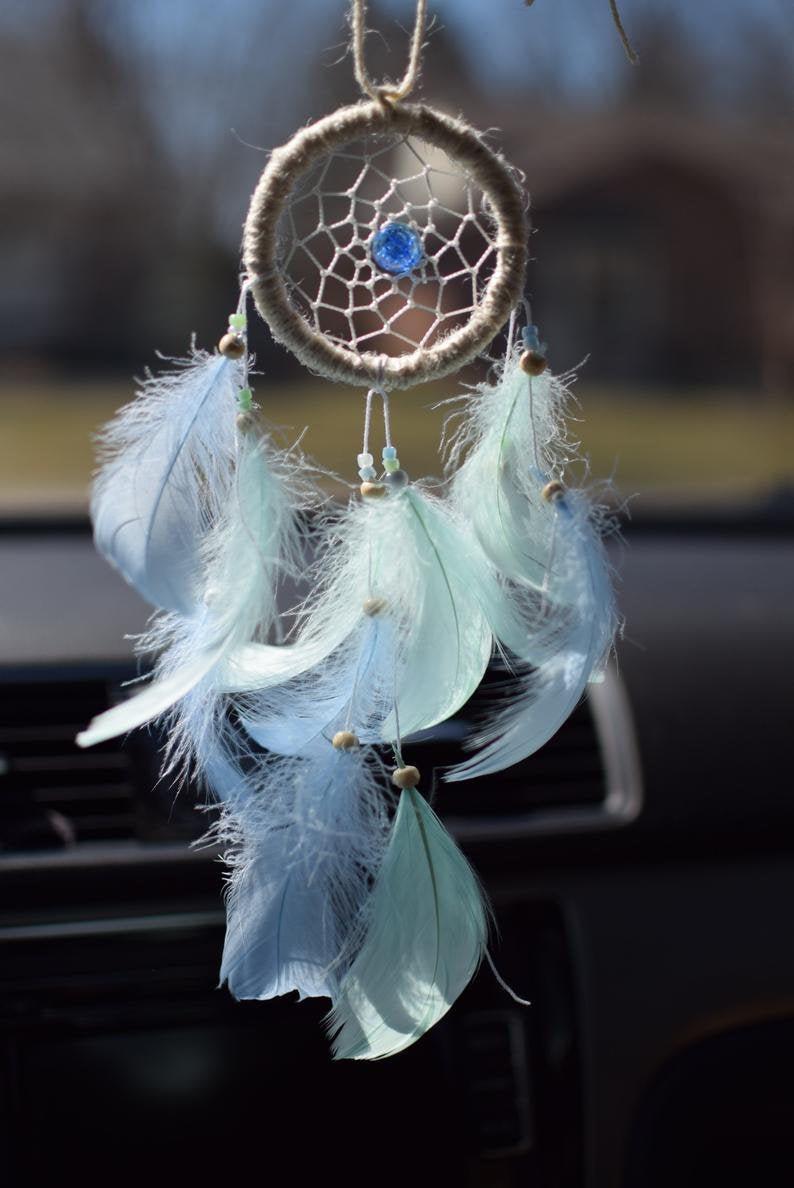 Cute Car Accessories for Women, Rear View Mirror Charm Small Dream Catcher for Car  Кружевные