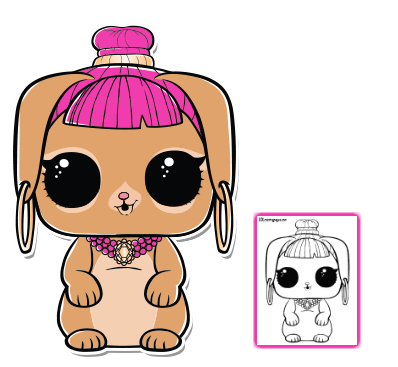 Bunny Wishes LOL Doll Coloring