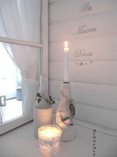 pin von heike hoppe auf ideen mit gl sern pinterest kerzenlicht kerzen und dekoration. Black Bedroom Furniture Sets. Home Design Ideas