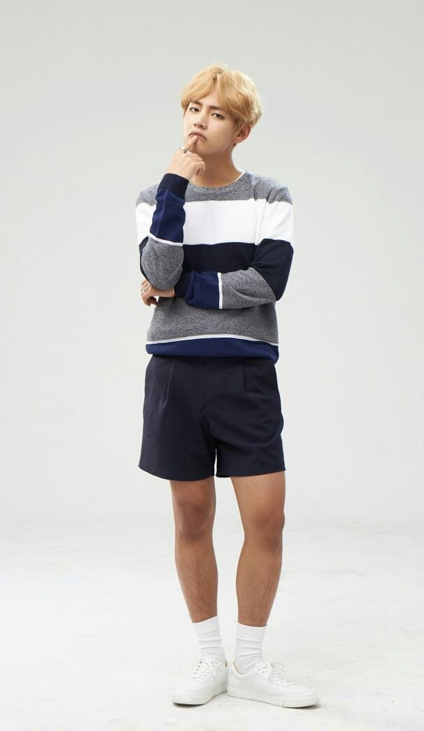 Omg He has hair on his legs...!!!   Bangtan boys ...