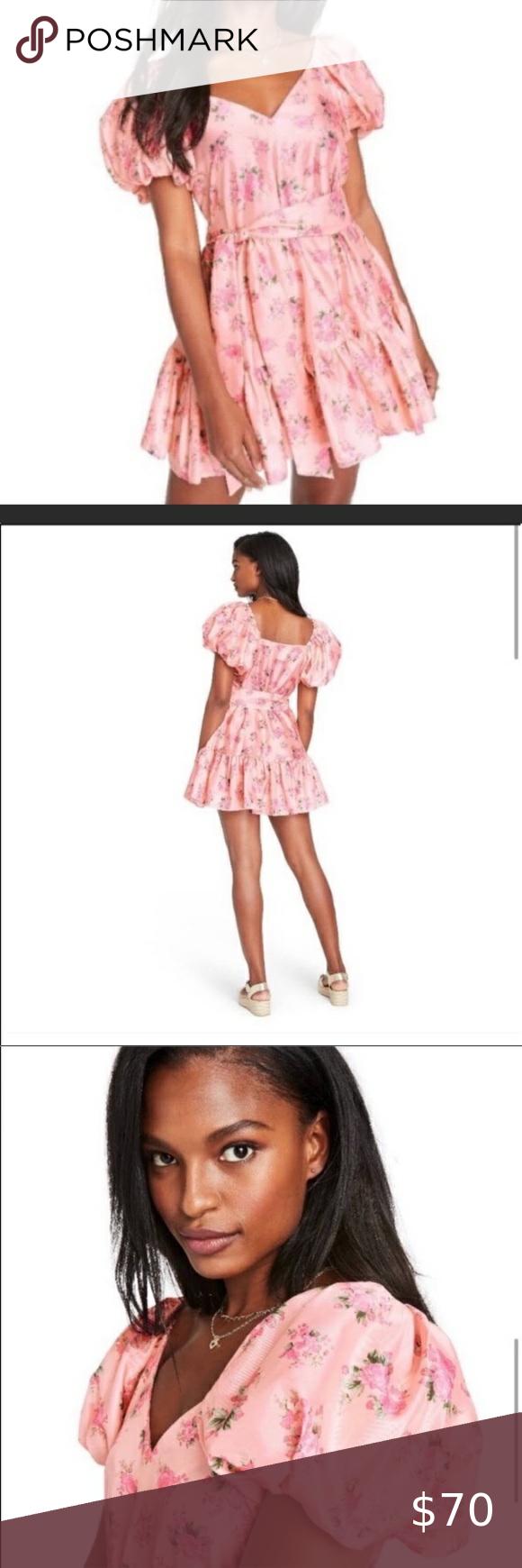 Sold Loveshackfancy Target Cecile Pink Dress Puff Sleeve Dresses Loveshackfancy Dresses [ 1740 x 580 Pixel ]