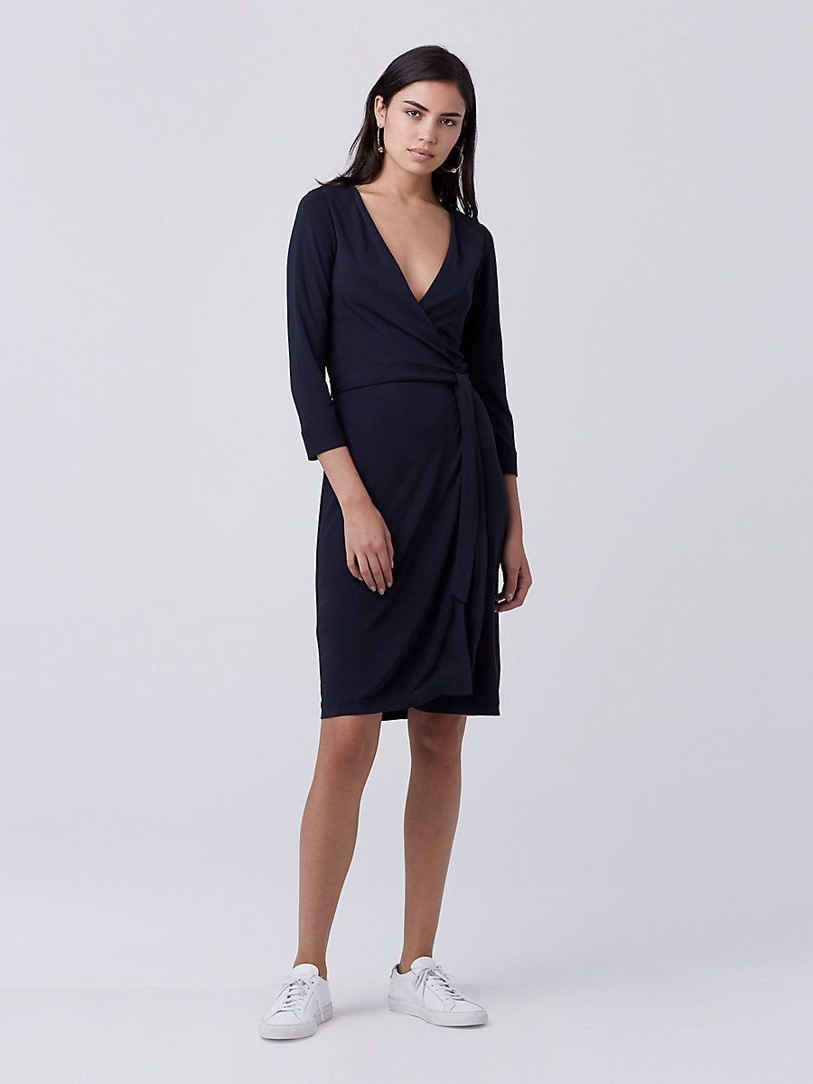 New Julian Two Matte Jersey Wrap Dress in Midnight   Move into my ...