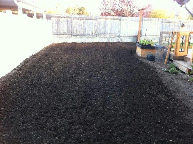 Freshly plowed garden